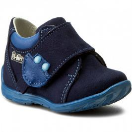 ccbe2418e4a8 Detail · Ren But Chlapčenské celokožené členkové topánky - modré