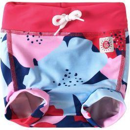 Reima Dievčenské plavecké šortky s plienkou Belize s UV ochranou 50+ - ružové s kvetmi