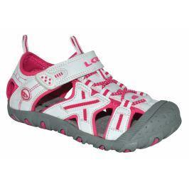 LOAP Dievčenské sandále Allen - bielo-ružové