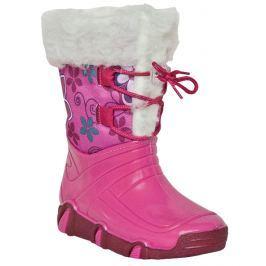 Zetpol Dievčenské snehule s kožušinkou Elsa - ružové