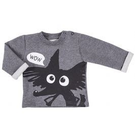 Ewa Klucze Chlapčenské tričko Black - sivé