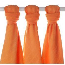 XKKO Bambusové plienky 70x70cm - 3ks - Oranžové