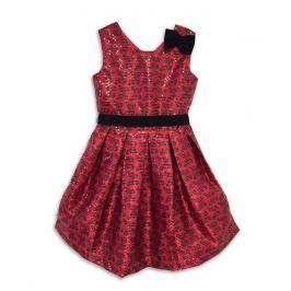 Joe and Ella Dievčenské šaty s motýlikmi Sarah - červené