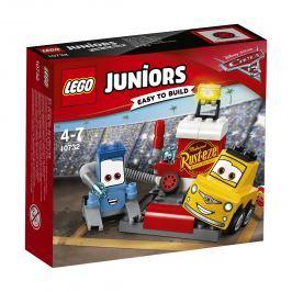 LEGO® Juniors 10732 Zastávka v boxoch Guida a Luigiho