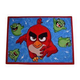 Carpet your life Detský koberec Angry Birds Ruďák a Čuňa, 95x133 cm - modrý