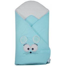 """EKO Zavinovačka s výšivkou """"Mouse"""" - Turquoise"""