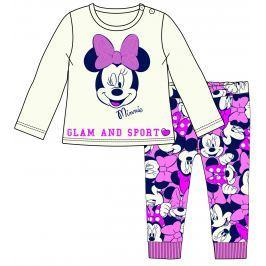 Disney by Arnetta Dievčenská súprava  trička a legín Minnie - béžovo-ružová