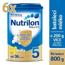 Nutrilon 5 Pronutra Vanilla - 6x800g