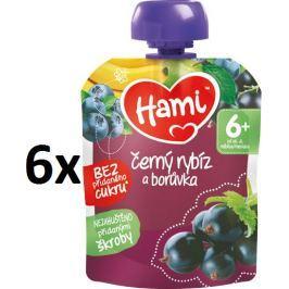 Hami Kapsička čierne ríbezle a čučoriedka, 6x90g
