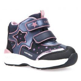 Geox Dievčenské zimné topánky s hviezdou New Gulp - tmavo modré