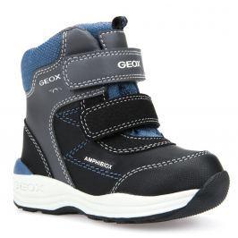 Geox Chlapčenské zimné topánky New Gulp - šedo-čierne