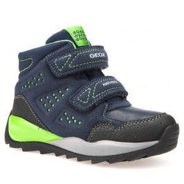 Geox Chlapčenské zateplené topánky Orizont - tmavo modré