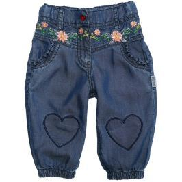 Gelati Dievčenské capri nohavice Flowers - modré