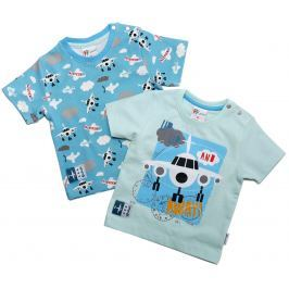Gelati Chlapčenský komplet 2 ks tričiek Airport - farebný