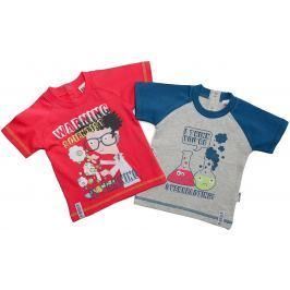 Gelati Chlapčenský komplet 2 ks tričiek Scientist - farebný