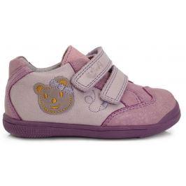 Ponte 20 Dievčenské kožené topánky s medvedíkom - ružové