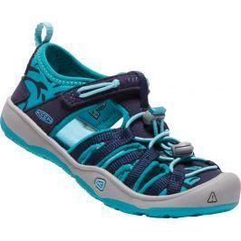 Keen Chlapčenské sandále Moxie K, dress blues / Viridian - modré