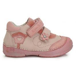 D.D.step Dievčenské členkové topánky s domčekom - ružové