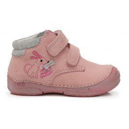 D.D.step Dievčenské členkové topánky s psíkom - svetlo ružové