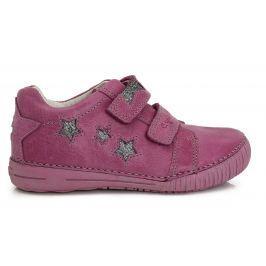 D.D.step Dievčenské členkové topánky s hviezdičkami - fialové