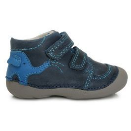 D.D.step Chlapčenské členkové topánky so slonom - modré