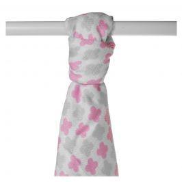 XKKO Bambusová osuška Scandinavian 90x100, Baby Pink Cross