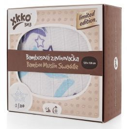 XKKO Bambusová zavinovačka Limited Edition 120x120 cm, Modrá hviezda