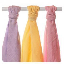 XKKO BIO bavlnená osuška 90x100 cm, Pastels pre dievčatá, 3ks