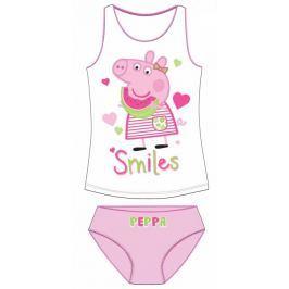 E plus M Dievčenská súprava tielka a nohavičiek Peppa Pig - bielo-ružový