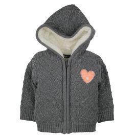 Dirkje Dievčenský sveter s kožušinkou - tmavosivý
