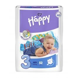 Bella Happy Midi 5-9 kg, 52 ks