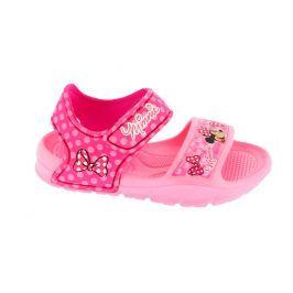 Disney by Arnetta Dievčenské gumové sandále Minnie - ružové