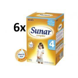 Sunar dojčenské mlieko Complex 4, 6x600 g