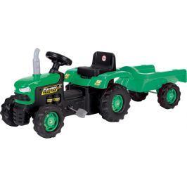 DOLU Detský traktor šliapací s vlečkou, zelený