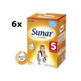Sunar dojčenské mlieko Complex 5, 6x600g