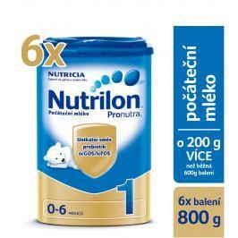 Nutrilon 1 počiatočné dojčenské mlieko Pronutra 6x800g