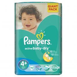 Pampers Active Baby 4+ Maxi Plus 9-16kg, 70 ks GIANTPACK - jednorázové plienky