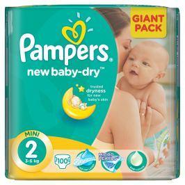 Pampers New Baby 2 Mini 3-6kg, 100 ks GIANTPACK - jednorázové plienky