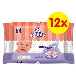 Panda Vlhčené obrúsky 12x64 ks