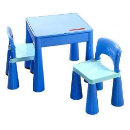 Tega Detská sada stolček a dve stoličky modrá