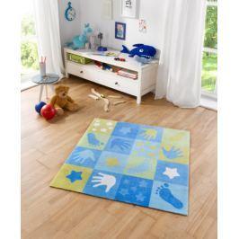 Hanse Home Detský koberec Patchwork, 100x100 cm - modrý
