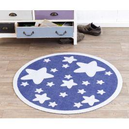 Hanse Home Detský okrúhly koberec Hviezdičky, modrý