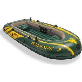 Intex Sada čln Seahawk 3 s ručnou pumpou a hliníkovými páčkami