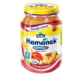 Hamánek HAPPYFRUIT 100% ovocia s kúskami broskýň 6x190g