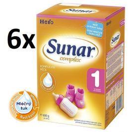 Sunar dojčenské mlieko Complex 1, 6x600g