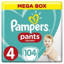 Pampers Pants plienkové nohavičky 4 Maxi (9-14 kg), 104 ks