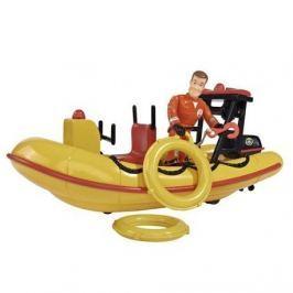 Simba Požiarnik Sam Záchranný čln Neptún 20 cm s figúrkou
