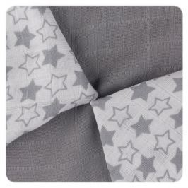 XKKO Bambusové obrúsky 30x30 Little Stars Silver MIX (9ks)