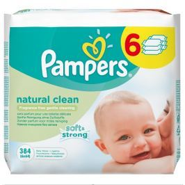 Pampers Obrúsky Natural Clean 6x64ks