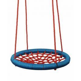 WOODY Hojdací kruh (priemer 100cm) - červeno-modrý